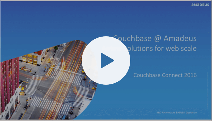Couchbase at Amadeus: airline solutions at web scale